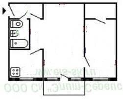 2-комнатная, ул. Вологодская. Индустриальный, агентство, 43 кв.м.