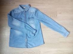 Рубашки джинсовые. Рост: 152-158, 158-164 см