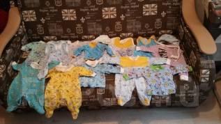 Лот детских вещей от 0-3 месяцев. Рост: 50-60, 60-68 см