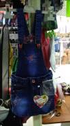Сарафаны джинсовые. Рост: 110-116, 116-122, 122-128, 128-134, 134-140 см