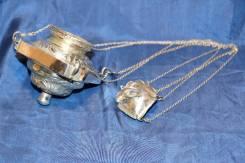 Лампада церковная в стиле Ампир, серебро «84» пробы. Россия, 1843 год. Оригинал