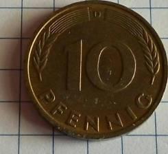 10 пфеннигов 1980 года.
