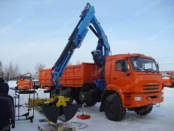 Камаз 43118 Сайгак. Самосвал Камаз-43118 с КМУ Fassi 130 и самосвальной установкой, 6 700 куб. см., 8 500 кг.