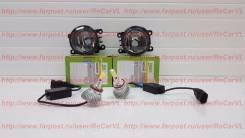 Туманки Valeo на Mitsubishi, с Led лампами. Mitsubishi: L200, Colt Plus, Outlander, Delica D:5, Pajero, RVR, Colt, Grandis, ASX