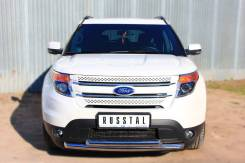 Защита бампера. Ford Explorer, U502 Двигатели: DURATEC, TIVCT, ECOBOOST. Под заказ