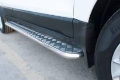Пороги труба с листом Ford Ecosport 2014- (d42). Отправка по Миру!. Ford EcoSport. Под заказ