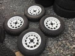 Раллийные Японские Диски+шипованные шины Bridgestone Potenza RE39R. 6.0x13 ET20 ЦО 72,0мм.