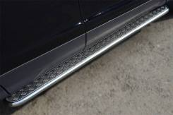 Пороги труба с листом Ford Kuga 2013- (d42) . Отправка по Миру!. Ford Kuga. Под заказ