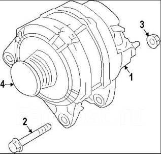 Генератор. Nissan Juke, F15 Двигатель MR16DDT