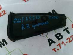 Уплотнитель стекла двери. Toyota Passo, KGC10 Двигатель 1KRFE