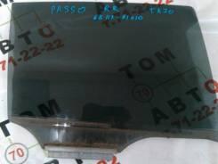 Стекло боковое. Toyota Passo, KGC10 Двигатель 1KRFE