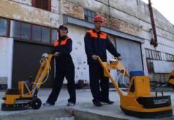 Шлифовка и реставрация сухих бетонных полов. Гладкий пол.
