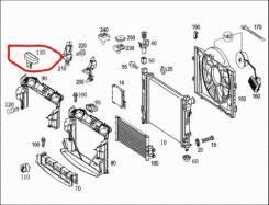 Рамка радиатора. Mercedes-Benz CLK-Class, A209, C209, A209.420, A209.441, A209.442, A209.454, A209.456, A209.461, A209.465, A209.472, A209.475, A209.4...