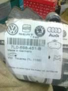 Колодка тормозная. Volkswagen Touareg, 7LA, 7L6 Двигатели: BPE, BLE, BAN, AYH, BMX, BAR, BHK, BKS, BAC, BLK, AZZ, BAA, BPD, BUN, AXQ, BRJ, BKW, BWF, B...