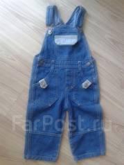Полукомбинезоны джинсовые. Рост: 80-86 см