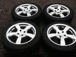 Бюджетный комплект колес R16 4*100 на шинах 195/55. 7.0x55 4x100.00 ET40 ЦО 72,0мм.