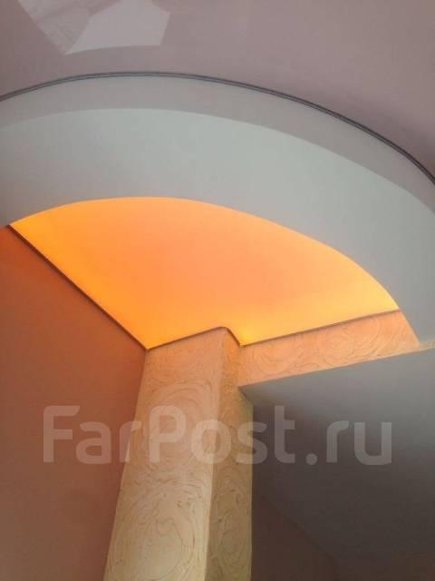 Установка потолков, новые виды натяжных потолков резные, текстурные