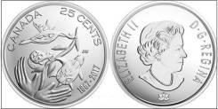 Канада 25 центов 2017 г. 150 лет Конфедерации .