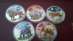 240 франков Конго 2008 Большая пятёрка Африки Серебро .
