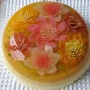 3D цветочный торт