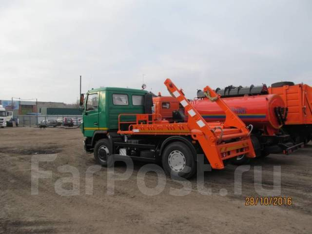 МАЗ 5550В2-420-001. МК-3412-01 на шасси МАЗ 5550В2-420-041 бункеровоз (без бункера, КПП-ZF