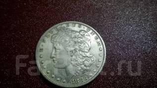 США, 1 доллар, 1886, Морган, серебро.