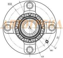 Ступица RR HYUNDAI ELANTRA 00- SAT ST-52710-2D000