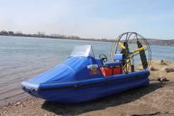 Продается Аэролодка. длина 4,80м., двигатель стационарный, 65,00л.с., бензин