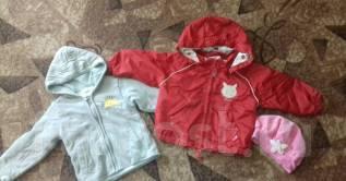 Пакет вещей-платья, юбки, халат, джинсы, курточки. Рост: 74-80 см