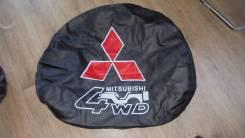Чехол для запасного колеса. Mitsubishi Pajero iO, H67W, H77W, H66W, H76W, H61W, H62W, H72W, H71W Mitsubishi Pajero Pinin