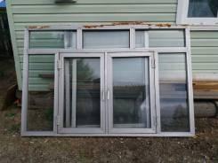 Окна алюминиевые.