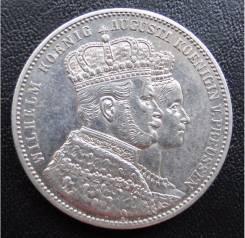 1 талер.1861г. Пруссия. Коронационный. Серебро. XF+