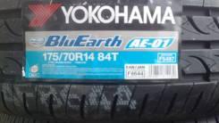 Yokohama BluEarth AE-01. Летние, 2016 год, без износа, 2 шт