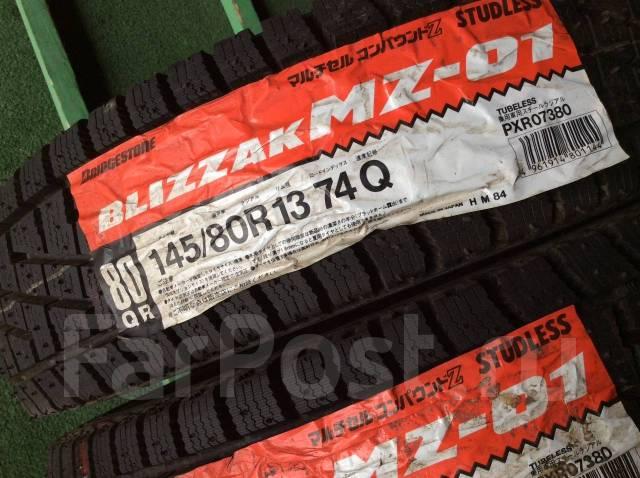 Bridgestone Blizzak MZ-01. Зимние, без шипов, 1998 год, без износа, 4 шт
