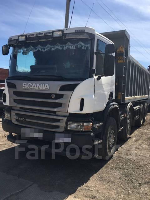 Scania. Самосвал P420 8x4 (2012 г, отличное сост. ), 12 000 куб. см., 32 000 кг.