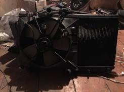 Радиатор охлаждения двигателя. Toyota Starlet, EP91
