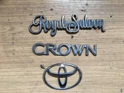 Эмблема багажника. Toyota Crown, JZS179, JZS155, JZS151, JZS173, GS171, GS171W, JZS171, JZS175W, JZS171W, JZS173W