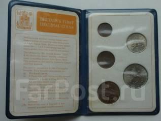 Великобритания набор послереформенных монет.
