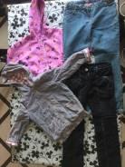 Вещи на девочку 6-7 лет. Курточка, толстовка, джинсы. Рост: 110-116, 116-122, 122-128 см