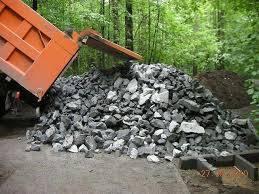 Отсыпка территорий скалой