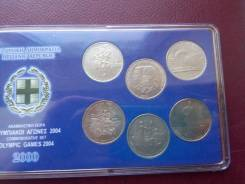 Греция. 500 драхм 2000 года . Набор монет. Олимпиада