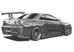 Порог кузовной. Nissan Skyline, HR34, BNR34, ENR34, ER34