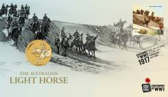 Австралия 1 доллар 2017 Australian Light Horse WWI Лошадь. Война