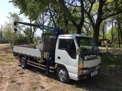 Isuzu Elf. Продам грузовик с манипулятором во Владивостоке, 4 600 куб. см., 3 000 кг.