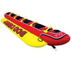 """Надувной """"банан"""" HOT DOG 5, пятиместный. Под заказ"""