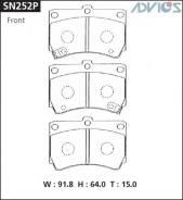 Колодки тормозные F MAZDA DEMIO DW (96-02), FAMILIA (94-99), REVUE (90-99), FORD LASER ADVICS SN252P
