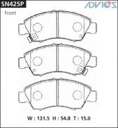 Колодки тормозные F HONDA CIVIC EK (95-00), FIT ; FIT ARIA GD (01-07), LOGO GA5 (96-03 ADVICS SN425P