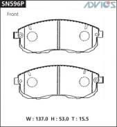 Колодки тормозные F NISSAN PRIMERA P12 (01-05), SKYLINE V35 (01-06), STAGEA M35 (01-07 ADVICS SN596P