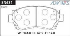 Колодки тормозные F TOYOTA CHASER ; CRESTA ; MARK II X90 (92-96), CHASER ; CRESTA ; MAR ADVICS SN631