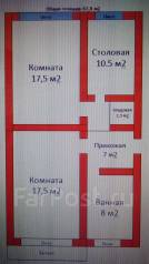 2-комнатная, улица Чубарова 5. 8 км, частное лицо, 62 кв.м.